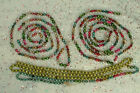 3 STRANDS VINTAGE MERCURY GLASS DOUBLE BEAD FEATHER CHRISTMAS TREE GARLAND
