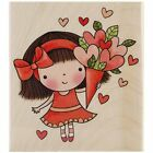 Penny Black 4296J Wood Mounted Rubber Stamp Sweetheart Mimi