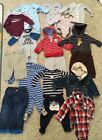 Lot of 18 Baby Boy Long Sleeve Clothes 6 Months Carters Pajamas Jackets Pants