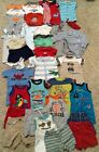 Lot of 33 Baby Boy Clothes 6 9 Months Summer Short Sleeve Romper One Pieces Sets