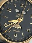 Vintage ZODIAC Triple Calendar Date  Moonphase Automatic Watch JUST SERVICED