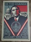 Shepard Fairey OBEY Barack Obama BE THE CHANGE Numbered Edition Offset Print