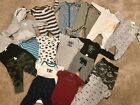 Huge Lot of 19 Carters 6 Month Baby Boy Clothes Sleepers Pajamas Pants Winter