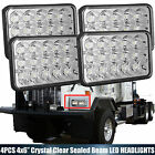 4x LED Headlights Sealed Hi Lo Beam DRL Upgrade For Kenworth T800 C500 GMC G3500