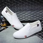 HK Cool Men No Shoelaces Loafers Leisure Slip on Canvas Shoes Casual Sneakers C