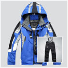 #2 Winter Men Ski Clothing Outdoor Waterproof Jacket Warm Coat Pant Snow Suits