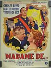 MADAME DEMAX OPHULS CHARLES BOYER DANIELLE DARRIEUX MOVIE POSTER