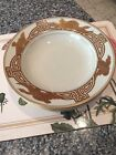 "Fitz And Floyd ""Golden Heron"" Large Rim Soup Bowls - Four Bowls"
