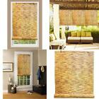 Bamboo Reed Blinds Indoor Outdoor Roll Up Shade Patio Window Porch 48 x 72