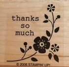 Retired Stampin Up Tags So Much Christmas Rubber Stamp Thanks So Much
