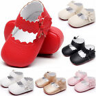 Newborn Baby Toddler Girl Crib Shoes Soft Leather Prewalker Anti slip Moccasins