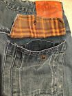 Mens NIKE Size 34 x 33 Cotton Med Wash Loose Relaxed Jeans RARE BRS PRODUCTS
