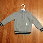 NEW Tommy Hilfiger Toddler Boys Gray 1 4 Zip Sweater Size 2T