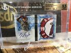 2017 Topps Inception Mike Trout Team Logo Auto Autograph Booklet 2 2 BGS 9.5 10