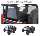 Jeep Cloak Black Mesh Side and Rear Panels for 97 06 Jeep TJ Wrangler