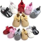 Baby Girl Princess Shoes Bowknot Leather Shoes Antislip Soft Sole Toddler Shoes