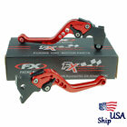CNC For YAMAHA DT125 RE DT125 R 2004-2007 Red Short  Brake Clutch levers US