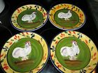 Style Eyes Baum Brothers Provence Rooster Collection Salad Plate Set of 4