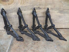 Lot 4 Antique-Style RUSTIC Cast Iron SMALL Little 4 x 4 Shelf SHELVING BRACKETS