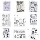 Transparent Silicone Clear Rubber Stamp Cling Diary Card Scrapbooking Craft DIY