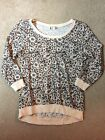 Eyeshadow Grey And Pale Pink Daisy Patterned Crew Neck Juniors Size Small