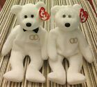 Ty Beanie Babies both Mr. and Mrs. Wedding Bears 2001 Baby Bride and Groom