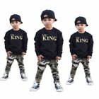 2pcs Toddler Infant Kids Baby Boys T shirt Tops+Pants Summer Outfits Clothes Set