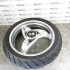 BMW F 650 CS 04 rear wheel rim with tyre & nut cover