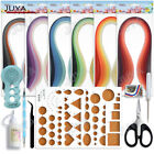 Juya Paper Quilling Kits with 30 Colors 600 Strips and 8 Tools with Glue