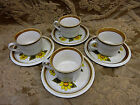 SET of 4 ~ Mikasa Stone Manor MELISSA CUPS & SAUCERS VINTAGE - Made in Japan