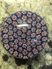 Small med Vintage Millefiori MURANO  Other Glass Paperweight Red Blue White