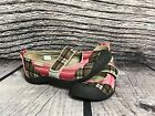 Keen Womens Pink Brown Plaid Mary Janes Slip on Shoes Flats Size US 75M EU 38