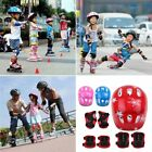 7Pcs Kids Roller Skating Helmet Knee Elbow Wrist Pad Protective Gear Set US