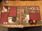 Christmas Pre made 12 By 12 Scrapbook Pages