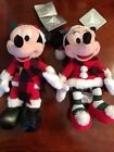 Mickey And Minnie Mouse Christmas Plush New for 2017