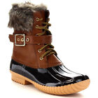 Chic New Christmas Gift Womens Lace Up Buckled Duck Waterproof Snow Boots