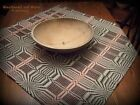 Primitive Antique Reproduction Black Liberty Pattern Table Cover Coverlet 34