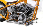 V Twin Chrome Lake Pipes Exhaust for 1970 1984 Harley Shovelhead