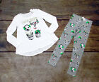 JUSTICE GIRLS SIZE 10 CHRISTMAS THEME LONG SLEEVE TOP MATCHING LEGGINGS NWT