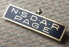 NSDAR Page National Society The Daughters of the American Revolution Pin Badge
