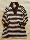 Gymboree Girls Best Friend Blue and Brown Stripe Velour Dress Sz 4 Euc