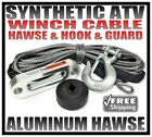 SYNTHETIC ATV UTV WINCH CABLE, HOOK, GUARD AND HAWSE PACKAGE 50' DYNEEMA SK75