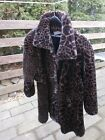 Express Womens Ladies Black Brown Faux Fur Winter Coat Jacket Size Small
