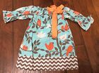 Southern Tots Dress Boutique Pageant Blue With Tree Birds Bow 3T Adorabe