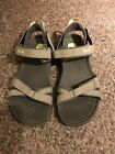 WOMENS TEVA TRADEWINDS SPORT SANDALS TAUPE GREEN SHOES TRIM SIZE 7 1003955