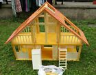 Vintage 1970s Barbie Doll A-Frame Dream House Cottage Yellow Orange Red White
