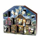 NEW Christmas Gift for Kids Nativity Wooden Advent Calendar Toy for House Beauty
