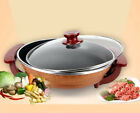 Electric Food Steamer Deep Fry Cooker Multi-function Cooking Pot Saucepan 44CM