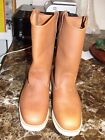 Fin  Feather Mens Boots Size 8 E buckskin Leather Hunting Hiking fishing farm
