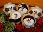 Five Handcrafted Snowman Ornie's Tuck's Bowl Filler's